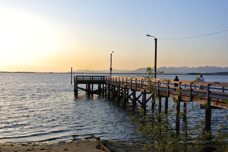 Crescent Beach Pier at sunset