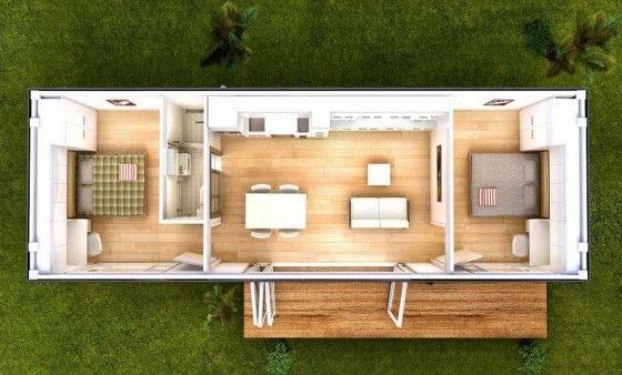Plano de casa muy pequeña
