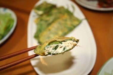 ケニップジョン(깻잎전) -- 香りを楽しめるえごま葉黄金焼き | 韓国料理店に負けない韓国家庭料理レシピ「眞味」
