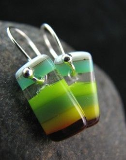 How to make fused glass beads - they make stunning earrings