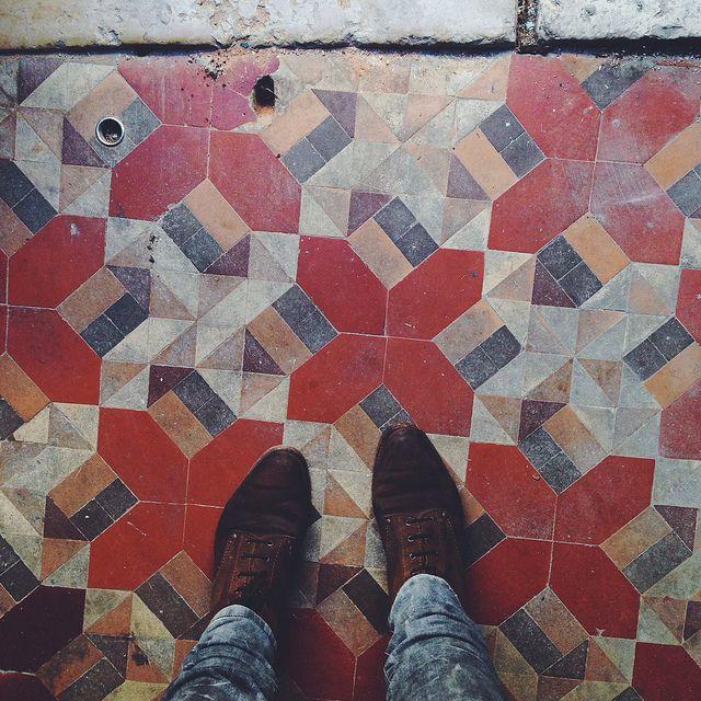 Geometric tiles /// A Ervilha Cor de Rosa