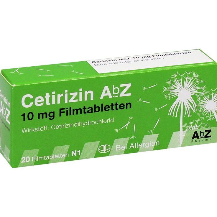 CETIRIZIN AbZ 10 mg Filmtabletten:   Packungsinhalt: 20 St Filmtabletten PZN: 06716136 Hersteller: AbZ Pharma GmbH Preis: 1,65 EUR inkl.…