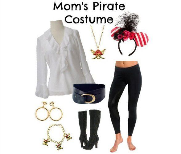 DIY Women's Pirate Costume Disney Cruise  (I'm totally getting those Mickey Ears before our cruise!)