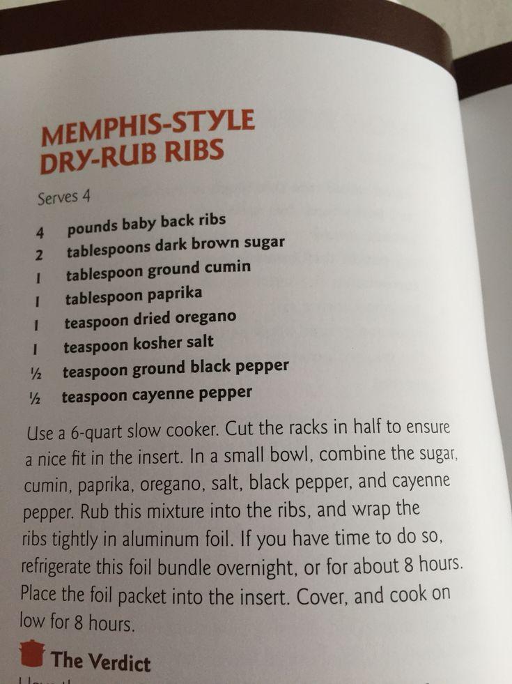 Memphis style dry rub ribs crockpot
