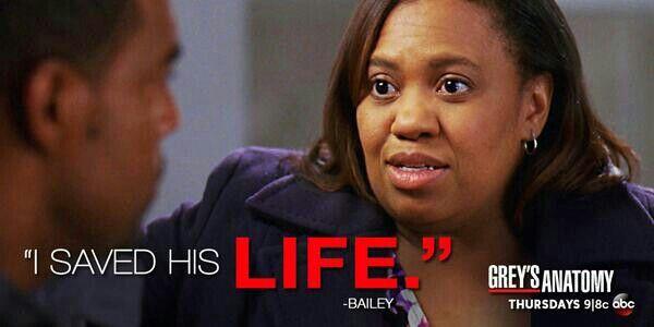 """I saved his life."" Miranda Bailey to Ben Warren, Grey's Anatomy quotes"