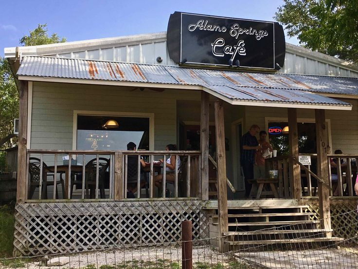 Alamo Springs Cafe in Comfort Texas http://www.placesiveeaten.com/blog/alamo-springs-cafe