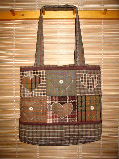 Patchwork bag                                                     Love the colours & fabrics