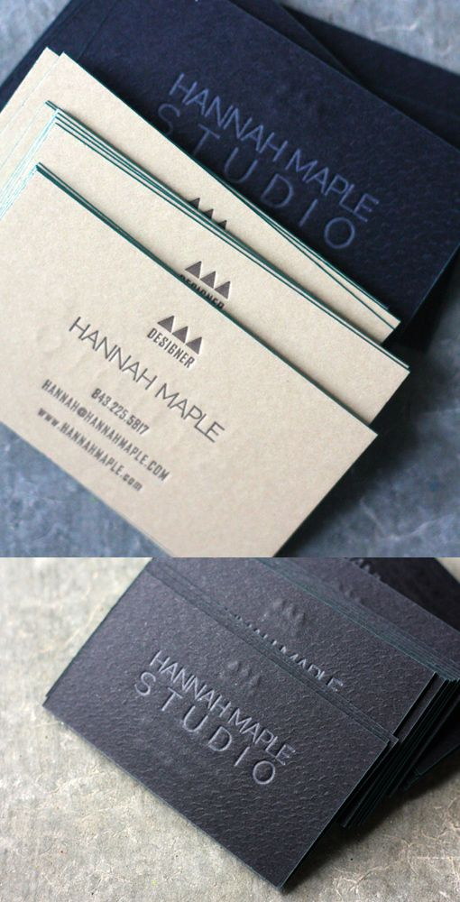 These cards were letterpress printed by Dingbat Press on GMUND Pine 110# paper which was custom duplexed to GMUND Ebenum 110# paper creating a total thickness of 230# coverstock. Letterpress printed 2/1, the front (tan side) was a CMYK black mix, and the rear (black side) was printed with a subtle snakeskin varnish followed by an overprinted light tan ink.