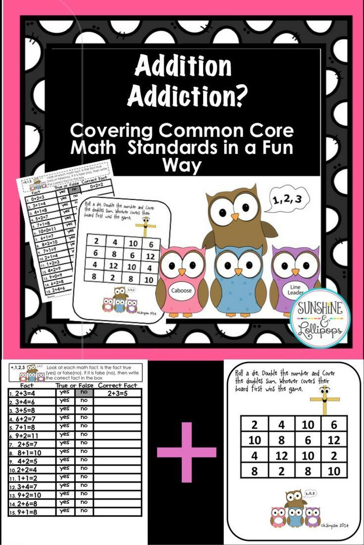 Math Addition Games Centers And Worksheets Aligned With Common Core Math Addition Games Math Addition Math Common core math addition and