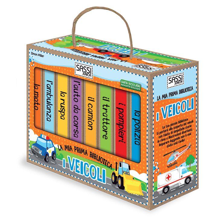 #Sassi Junior: La Mia Prima Biblioteca. I Veicoli - 8 libretti di 10 pagine ciascuno. #ecologia #libro #gioco