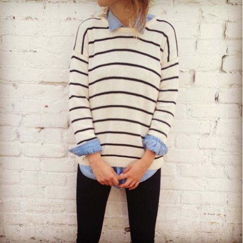 Stripes are always my favorite but think I might need to also invest in one of these light denim shirts.