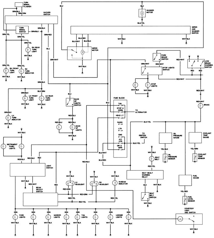 toyota pickup wiring diagrams diagram schematic
