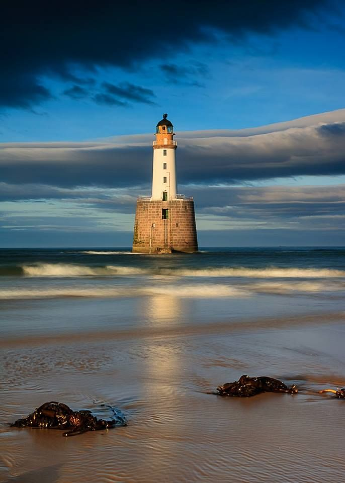 Rattray Head Lighthouse on Scotland's East Coast in Aberdeenshire