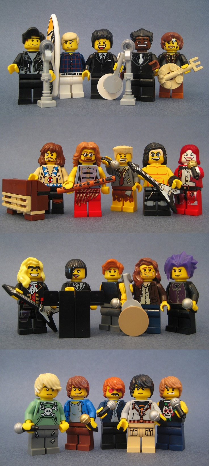 LEGO Rocking from the 60s, 70s, 80s, 90s . . .  And just a side note, it's kinda sad that the ones from the 90s all have the same hairstyle. Just saying.
