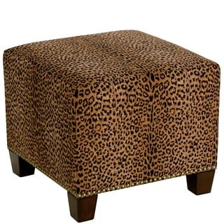 Shop For Skyline Furniture Square Nail Button Ottoman In Cheetah Earth. Get  Free Shipping At