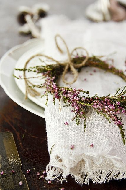 heather wreath for the | http://picnicmarco.blogspot.com