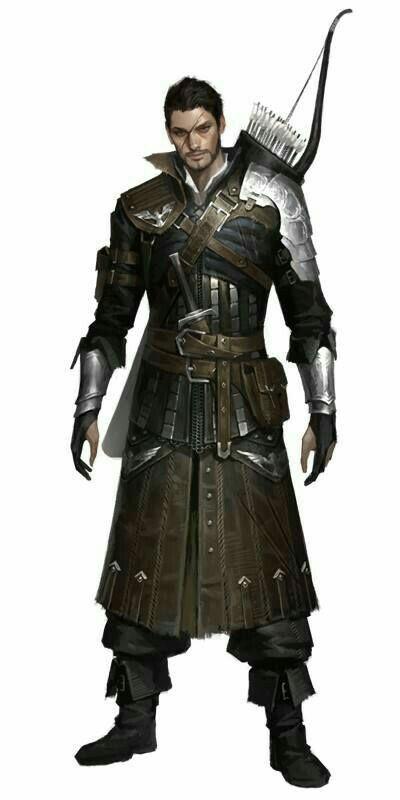 Male Human Fighter or Ranger- Bow Light Armor