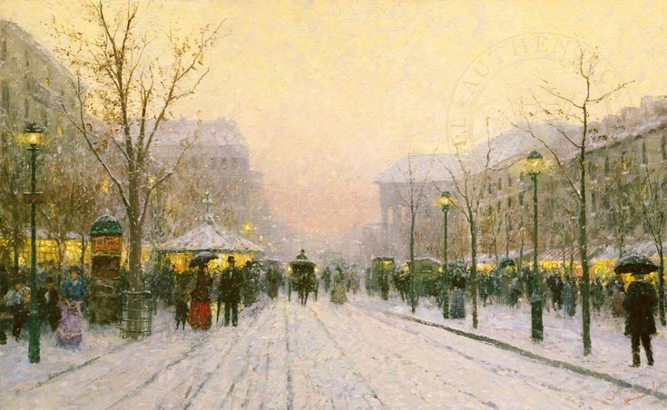 """Paris Snowfall"" by Thomas Kinkade (aka Robert Girrard)"
