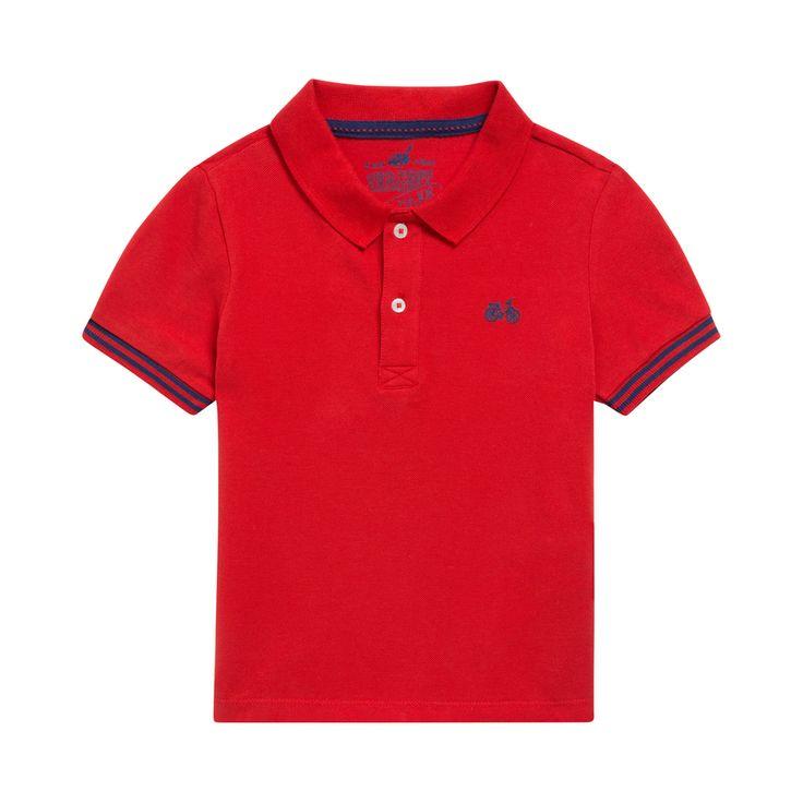Sergent Major vous propose ce polo garcon rouge pour les 2 à 11 ans du theme Mixmajor 1bis e17 de la collection Ete
