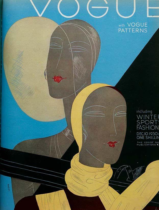 1930 Art Deco Vogue Cover ~ LÁMINAS VINTAGE,ANTIGUAS,RETRO Y POR EL ESTILO.... (pág. 805) | Aprender manualidades es facilisimo.com