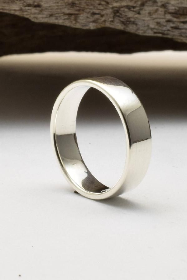 925 Sterling Silver 9.5mm Designed Edge Wedding Band Fine Jewelry Ideal Gifts For Women