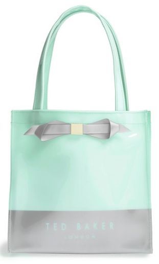 pretty mint color block tote
