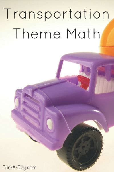 Preschool Transportation Theme Math Activities (with free printables)