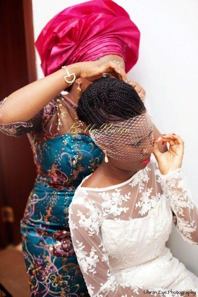 natural hair, nice veil, BellaNaija Weddings