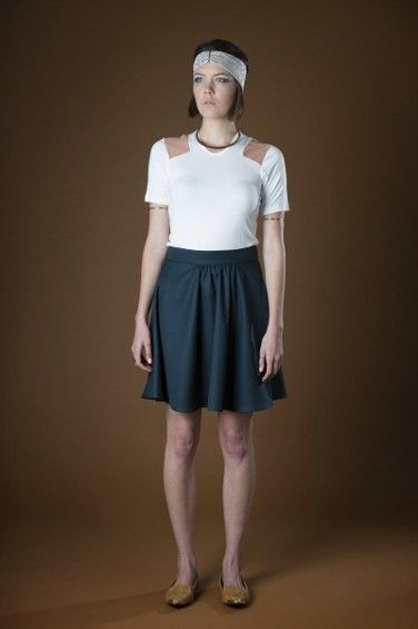 Cut Out Tee and Skipper Skirt