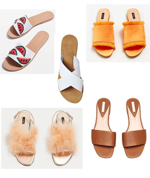 The best slides on the high street right now for under fifty pound http://gabriellalundgren.com/the-best-slides-on-the-high-street-right-now-for-under-fifty-pound Watermelon sandals from Top Shop, cross leather sandals from Office Uk, orange satin sandals from Mango, feather sandals from Mango and brown leather sandals from H&M, all under fifty pound from the high street.