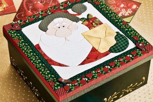 Caixa natalina de carton mousse / DIY, Craft, Upcycle