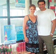 Ο Διονύσης Χατζόπουλος της Νέδα με τη σύζυγό του