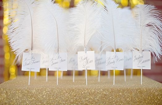 These feather escort cards not only look great displayed, but will no doubt add a punch of texture to their place at the table.
