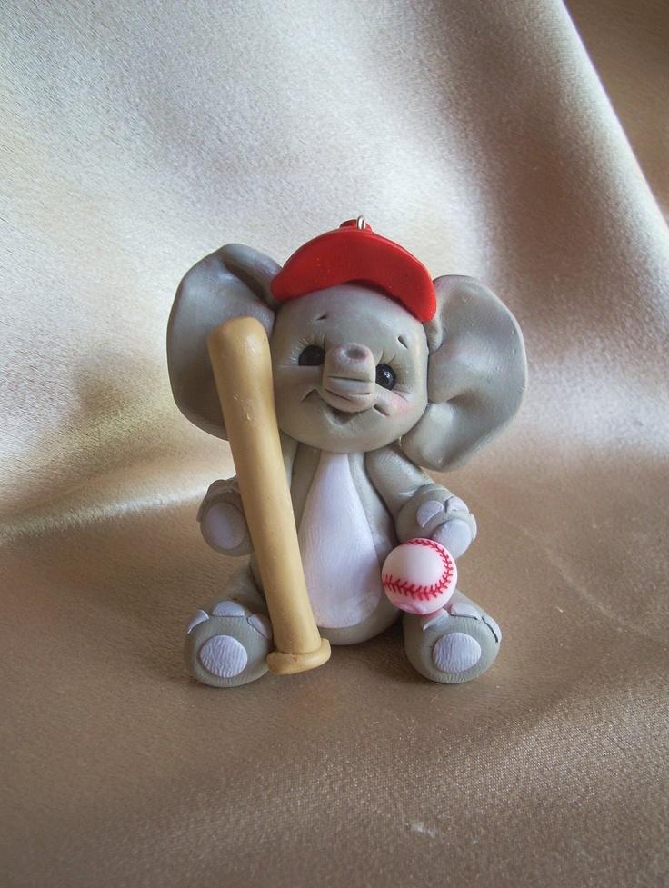 elephant Cake Topper baseball sports