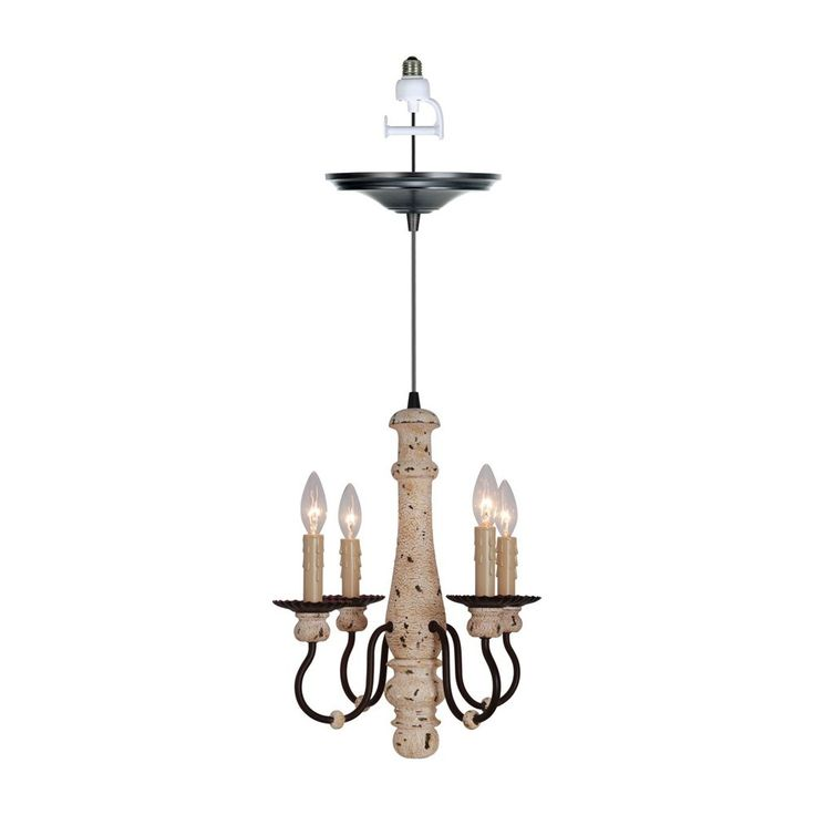 shop worth home products pbc0030 screw in instant pendant 4 light chandelier at atg