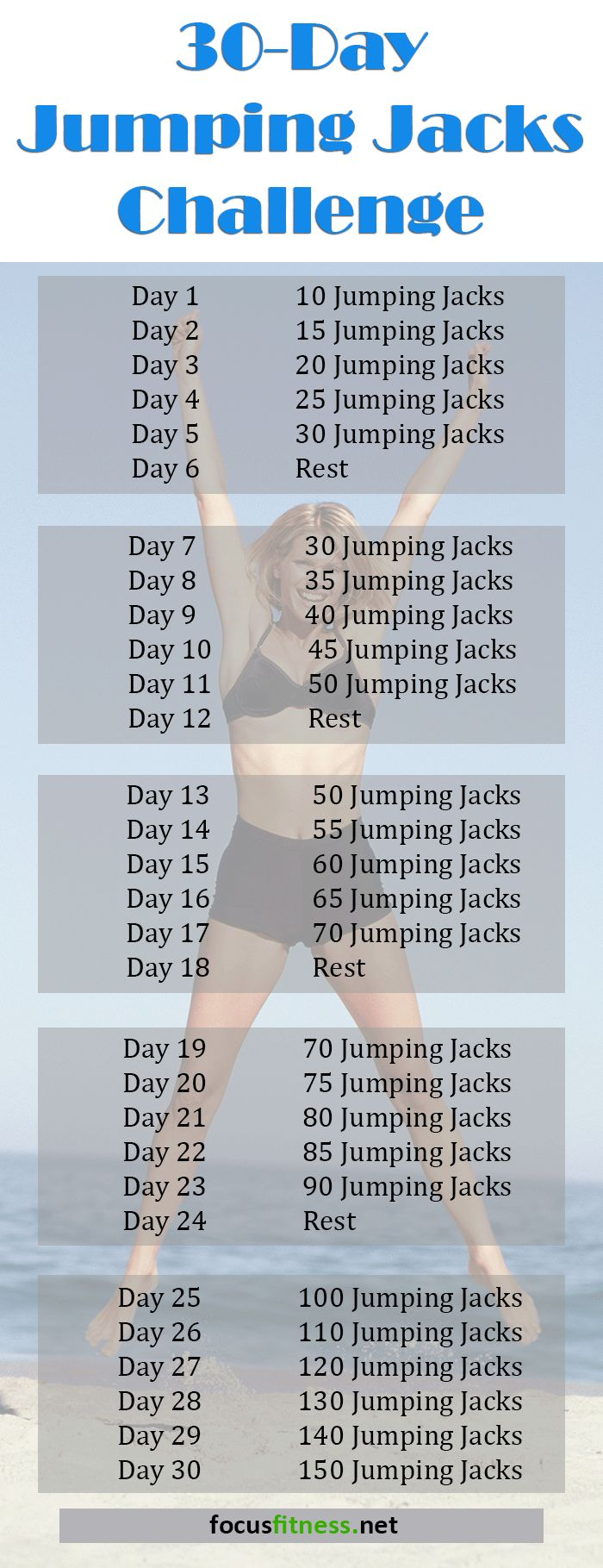 30 Day Jumping Jacks Challenge That Works!