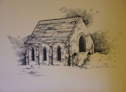 Sketch of the Wesley Chapel.
