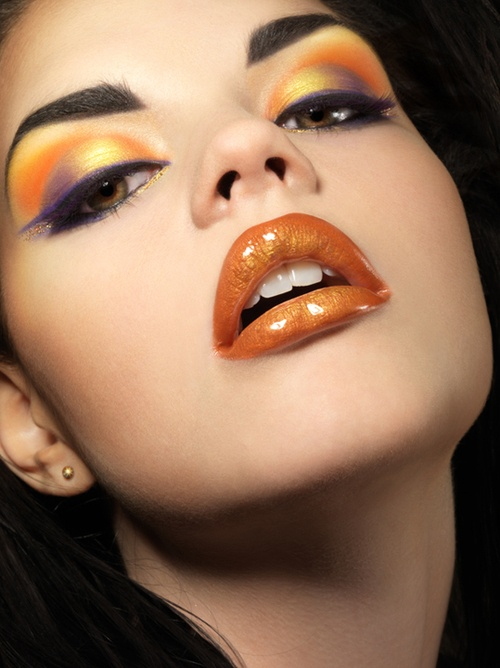 Painted Pretty Orange Lips Make Up Bold Makeup Looks