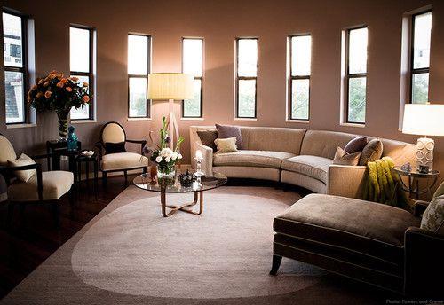 : Round Rooms, Circular Sofas, Living Rooms Design, Interiors Design, Portfolio Photographers, Circular Living, Photographers Contemporary, Eating Houses, Contemporary Living Rooms