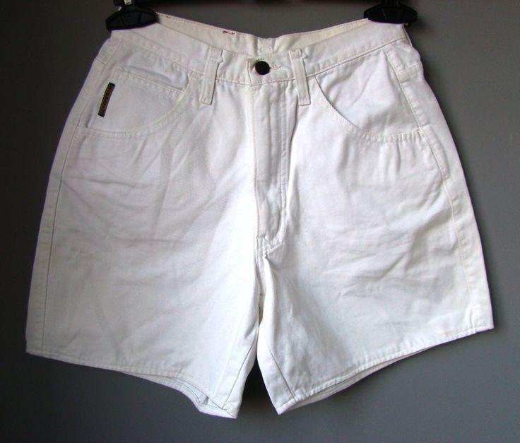 "Pantaloncini Bermuda SHORTS donna ""ARMANI"" BIANCO vita alta jeans denim woman"