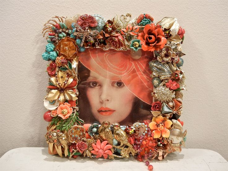 Very 114 best ♡ Jeweled Frames ♡ images on Pinterest | Picture frame  FU42