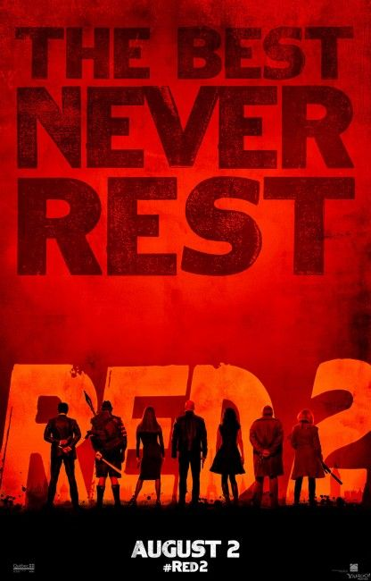 """New RED 2 """"The Best Never Rest"""" Poster"""