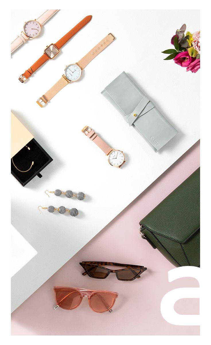 Moda Damska Stylizacja Damska Galanteria Bizuteria Zegarek Kolczyki Okulary Cluse Watch Fashion Accessories