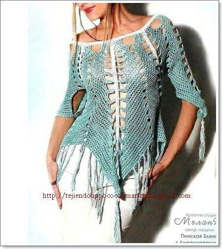 crochet tops ~ including charts, patterns