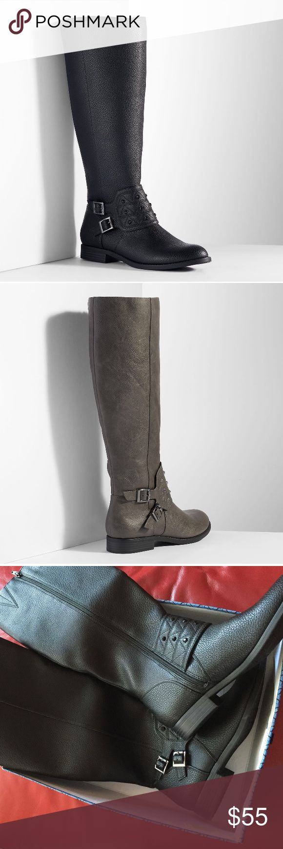 Simply Vera wang riding boots Nice leather boots Simply Vera Vera Wang Shoes Over the Knee Boots