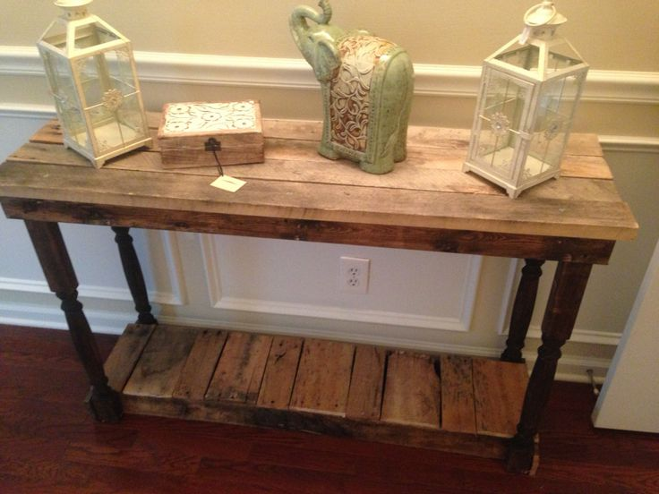 Elegant Rustic Foyer / Entry Table Made From Reclaimed Pallet Wood. Love This For  The Foyer And We Can Make The Dimensions Fit To The Size Of The Wall