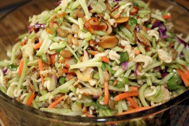 Asian Raman Noodle Coleslaw - Canadian Basics
