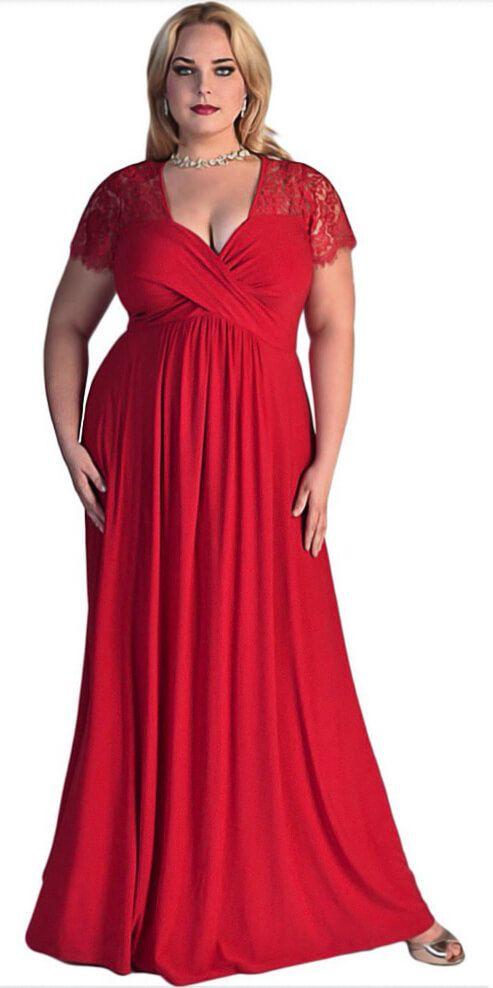 c43d20f59c3b $21.41 • • • • • • • • Plus Size Women Lace Long Evening Dress. Plus ...