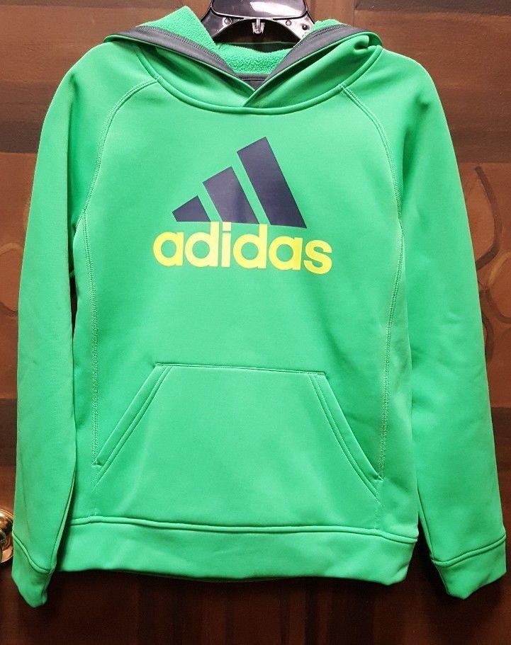 c93d22bac1c0 Adidas Youth Tech Fleece Pullover Hoodie Green Blue Yellow medium 10 12   fashion  clothing  shoes  accessories  kidsclothingshoesaccs   boysclothingsizes4up ...