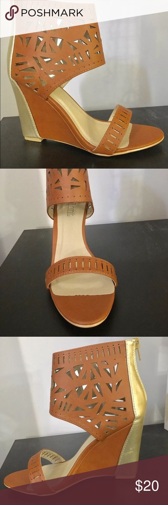 """Women's wedges size 8.5 Women's wedges in a size 8.5. These have never been worn. They are brand new in the box in perfect condition. The heel is about 4"""". relent  Shoes Wedges"""